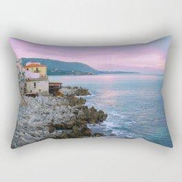 Cefalu Italy Coast Sunset Rectangular Pillow