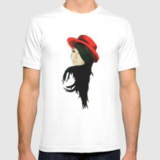 Red 1.0 White Mens Fitted Tee MEDIUM