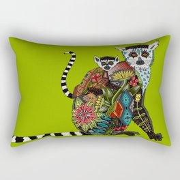 ring tailed lemur love lime Rectangular Pillow