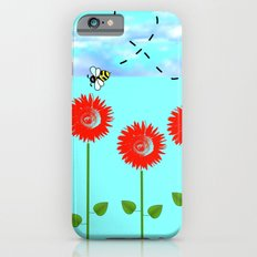 Sunflowers and bee iPhone 6s Slim Case