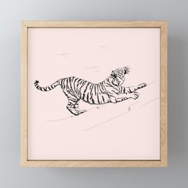 Tiger and Sun I. Framed Mini Art Print