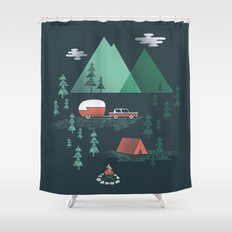 Pitch a Tent Shower Curtain