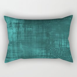 Teal Green Solid Abstract Rectangular Pillow