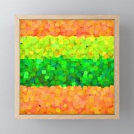 Sparkle Glitter Orange Framed Mini Art Print