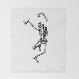 DANCING SKULL Throw Blanket