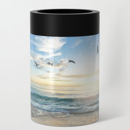 Beach Scene 34 Can Cooler