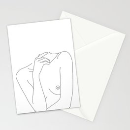 Woman's body line drawing - Cecily Stationery Cards