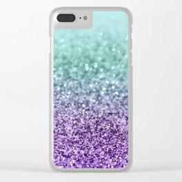 Mermaid Girls Glitter #9 #shiny #decor #art #society6 Clear iPhone Case
