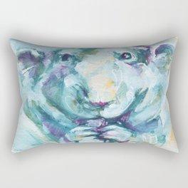 Green rat Rectangular Pillow