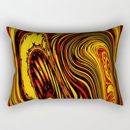 Melted abstract art Rectangular Pillow