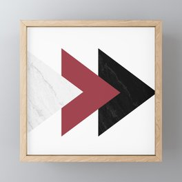Forward Marble Jester red Arrows Collage Framed Mini Art Print