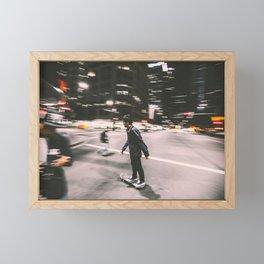 Skate in street 4 Framed Mini Art Print