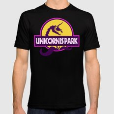 Unicornis Park Black MEDIUM Mens Fitted Tee