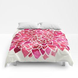 Beauty In Cream, Pink & Red Comforters