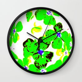 Floral Easter Egg Wall Clock