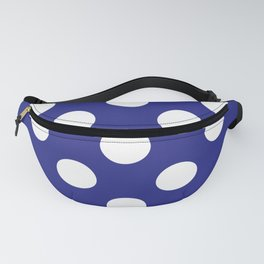 Geometric Candy Dot Circles - White on Navy Blue Fanny Pack