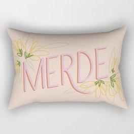 Merde Rectangular Pillow