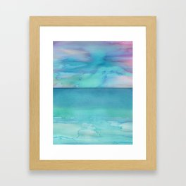 Painted Seascape Framed Art Print