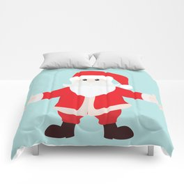 Christmas Santa Claus is Coming to Hug You Comforters