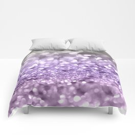 Purple Lavender Glitter #1 #shiny #decor #art #society6 Comforters