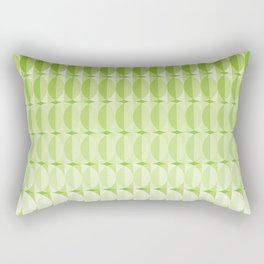 Leaves at springtime - a pattern in green Rectangular Pillow