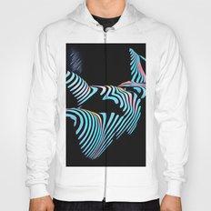 5143s-MAK Zebra Stripe Curves Sensual Female Body Art Hoody