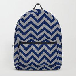 Chevron - marine blue and grey Backpack