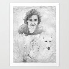 JON AND GHOST Art Print