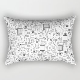 All Tech Line / Highly detailed computer circuit board pattern Rectangular Pillow