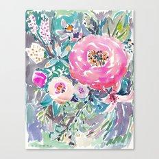 Wild Peony Floral Canvas Print