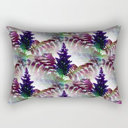 Colorful Seamless Fractal Leaves Rectangular Pillow
