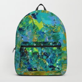 BEAUTY BENEATH THE SURFACE - Stunning Ocean River Water Nature Green Blue Teal Yellow Aqua Abstract Backpack