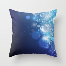 Illustraiton of underwater background with light rays Throw Pillow