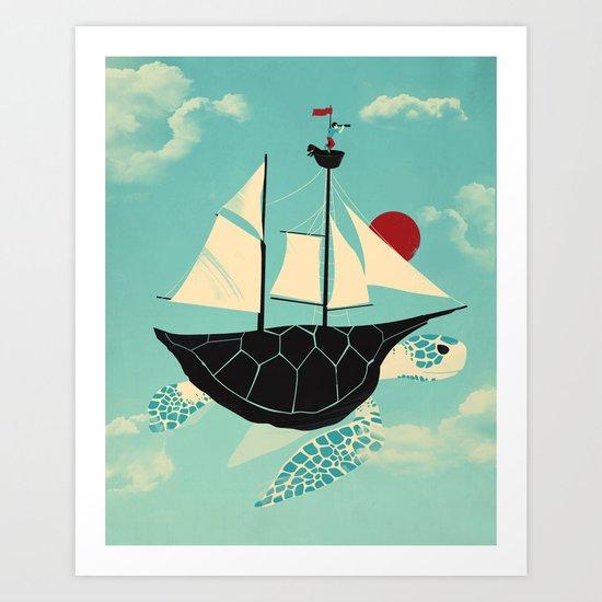 Adrift Art Print