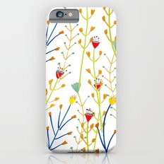Floral pattern, illustration pattern, flowers, prretty iPhone 6s Slim Case