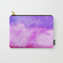 Modern violet lilac neon pink ombre watercolor Carry-All Pouch