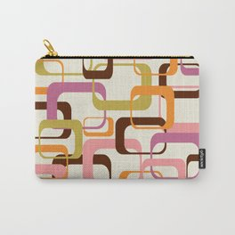 Mid Century Mod Shapes Carry-All Pouch