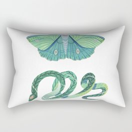 Moth and Snake Rectangular Pillow