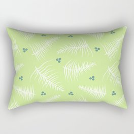 Fronds & Berries on Green Rectangular Pillow