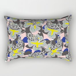 Tiger & Flower Rectangular Pillow