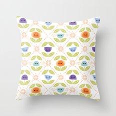 Mod Flowers Throw Pillow