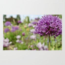 Monet's Positively Purple Flower Rug