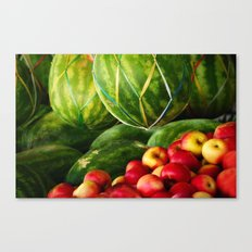 Watermelons and Apples  Canvas Print