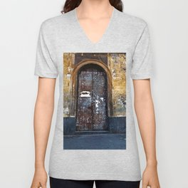 Old Sicilian door of Catania Unisex V-Neck