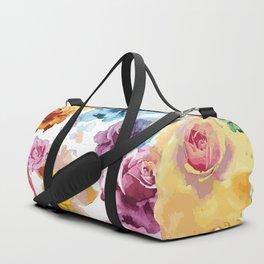 Watercolor Roses Duffle Bag