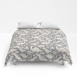 Delightful Dinos (gray) Comforters