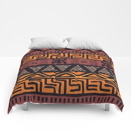 Tribal ethnic geometric pattern 021 Comforters