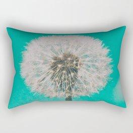 Green Blue Dandelion Rectangular Pillow
