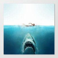 jaws Canvas Prints featuring JAWS by Smart Friend