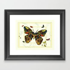 Colorful Butterfly Collage Framed Art Print